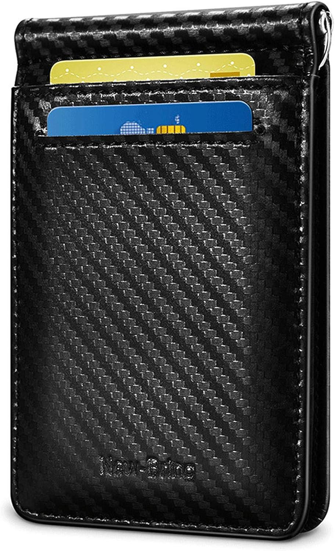 Generic RFID Blocking Slim Wallet For Men Minimalist Bifold Money Clip (Black)
