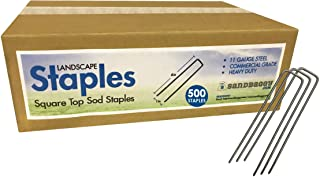 Sandbaggy 500-Count 6-Inch Galvanized Landscape Staples - SOD Garden Stakes ~ Trusted by Farmers & Contractors Across The USA