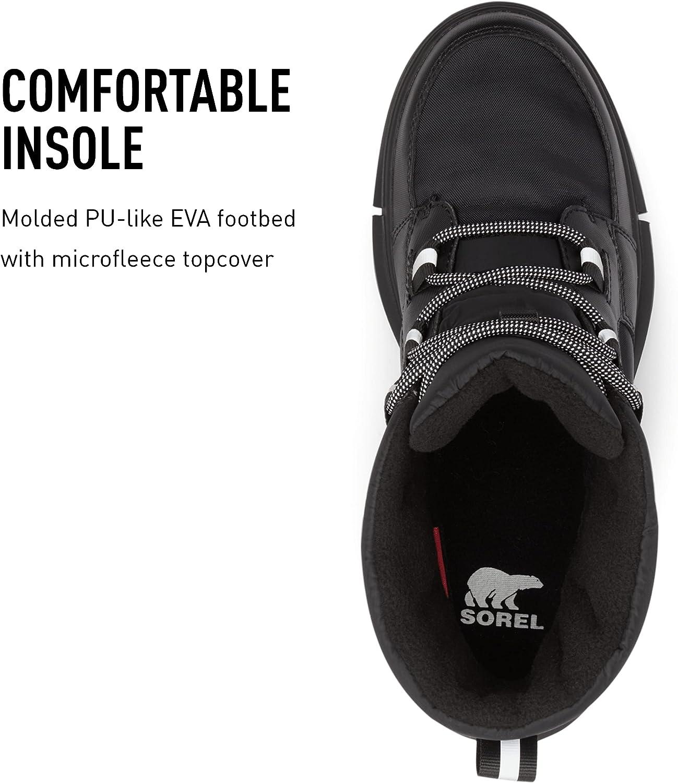 SOREL Women's Explorer II Carnival Boot — Black, Black — Waterproof Winter Boots — Size 8