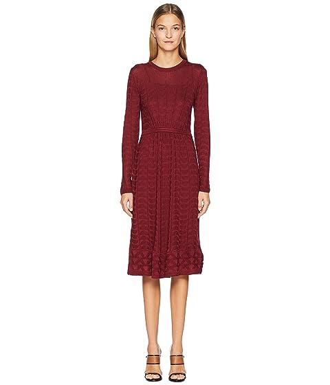 M Missoni Solid Knit Long Sleeve Dress
