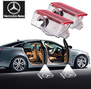 Mercedes Benz LED Door Light 2 x Wireless No Drill Type Led Laser Door Shadow Light Welcome Projector Light Led Car Door Logo Ghost Shadow Emblems - 2 Pack-1 Year Warranty