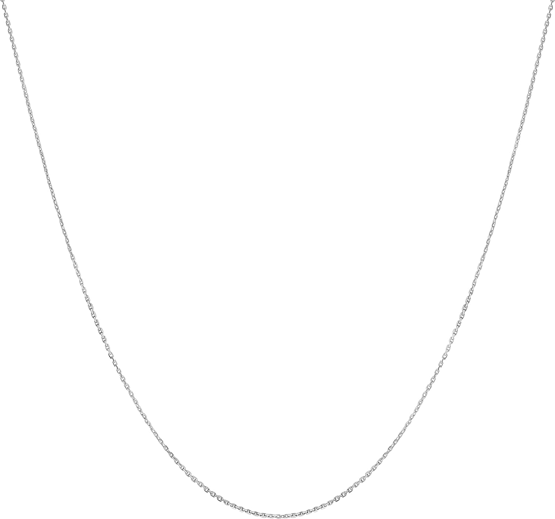 Kooljewelry Platinum 950 Diamond-Cut 1 mm Cable Chain Necklace (18 inch)