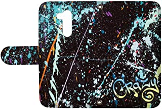 スマQ LG Style2 L-01L 国内生産 カード スマホケース 手帳型 LG エルジー エルジー スタイル ツー 【C.Crazy】 ペンキ ストリート 落書き ami_vd-0157