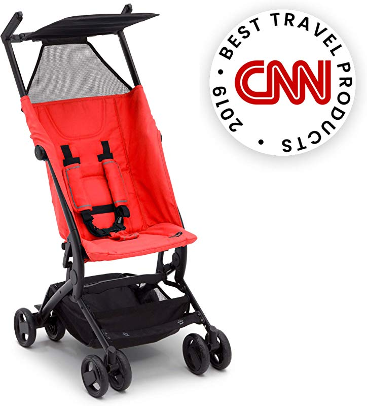 The Clutch Stroller By Delta Children Lightweight Compact Folding Stroller Includes Travel Bag Fits Airplane Overhead Storage Red