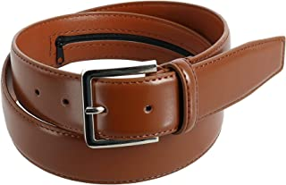 CTM Men's Leather Travel Money Belt (Large Sizes Available)