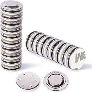 H Yanka 20-Pack Small Round Button Badge Magnets,Circle Badges,Brooches, Arts&Crafts and Other Round or Small Name Tags