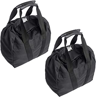 NAIZEA 2Pcs Training Sandbag, Adjustable Canvas-Kettlebell-Sandbag wtih Handle, Heavy Duty Workout Sandbags Fitness Weigh...
