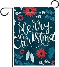 Huis Tuin Vlag DubbelzijdigLente Zomer Yard Outdoor Decoratie 28x40 inch, vrolijk kerstfeest