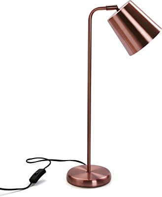 Versa Lampe de table Flexo Gustave, métal, cuivre, 57 x 18 x 18 cm