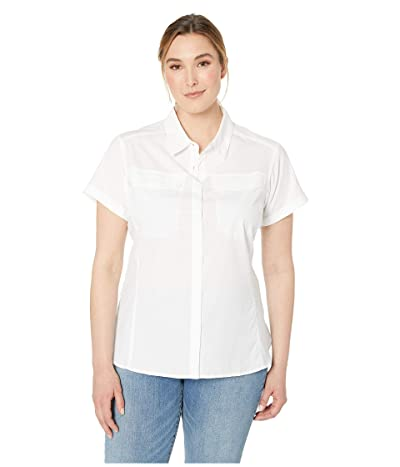 Columbia Plus Size Silver Ridgetm Lite Short Sleeve Shirt (White) Women
