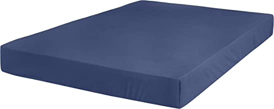 AmazonBasics Ultra-Soft Fitted Sheet - Breathable, Easy to Wash - King, Midnight Blue