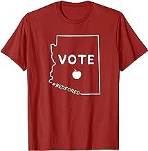 Vote Red for Ed T-Shirt Remember in November Teacher Arizona