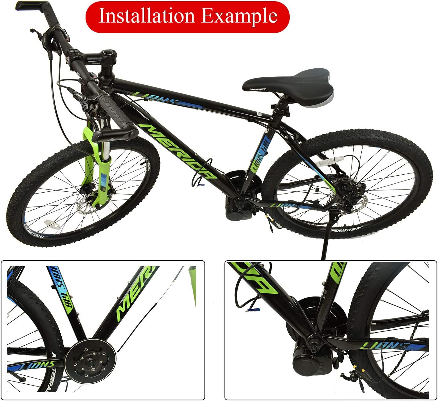 Pswpower 36V 250W// 350W// TSDZ2 Electric Bicycle Central Mid Motor with Torque Sensor and VLCD5// XH-18 LCD Display AD Germany warehouse