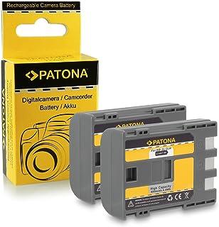 2x Batería NB-2L / BP-2L5 para Canon PowerShot S30 | S40 | S45 | S50 | S60 | S70 | S80 | G7 | G9 | EOS 350D | EOS 400D - Camcorder MV800 | MV830 | MV830i | MV850i y mucho más… Legria HF R16 | HF R17 | HF R18 | HF R106