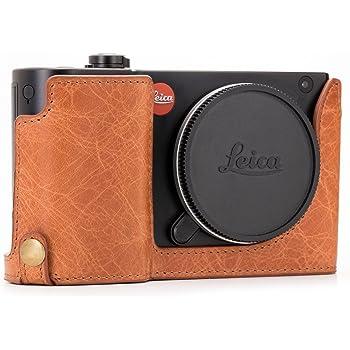 Brown Gariz Black Label Genuine Leather BL-LCM9BR Half Case for Leica M9 M8 Monochrom