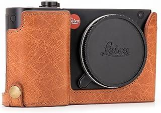 MegaGear Ever Ready Echtleder Kameratasche mit Trageriemen kompatibel mit Leica TL2, TL