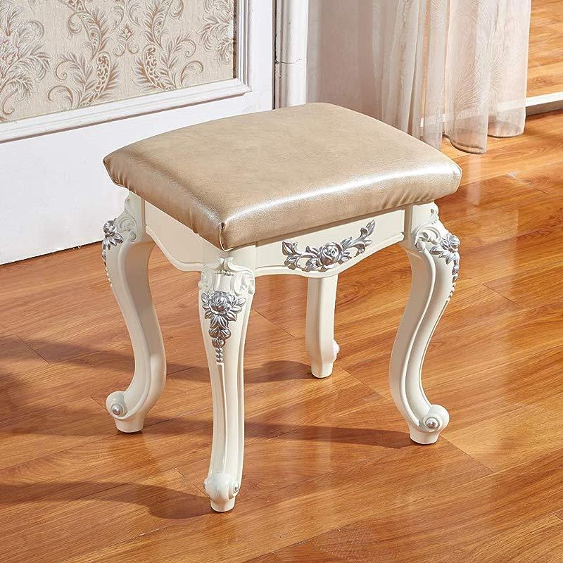 Zenggp Dressing Stool European Carved Makeup Stool Bench Bench Stool Stool Dressing Table Stool Beige 4433 548cm