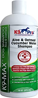 Oatmeal Dog Shampoo and Conditioner - For Dogs With Allergies And Dry Itchy Sensitive Skin. Best Hypoallergenic Medicated Tear Free Anti Itch Puppy shampoo With Cucumber Essence and Melon Extract