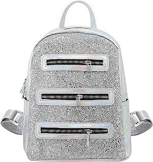 Shiny Sequins Backpack Hologram Daypack Shoulder Bag School Travel Bag