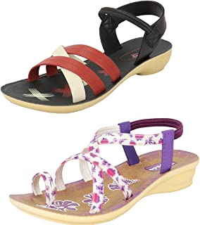 Earton Women Combo Pack of 2 Sandal & Floater