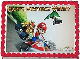 Super Mario Kart Edible Cake Topper Image Decoration Frosting 1/4 Sheet Decoration