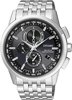 Citizen 西铁城 男士腕表 RADIO CONTROLLED石英表 不锈钢 AT8110-61E One Size银白色/黑色
