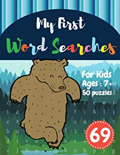 My First Word Searches: 50 Large Print Word Search Puzzles : wordsearch for 7 year olds activity workbooks | Ages 7 8 9+ Big Bear Design (Vol.69) (Kids word search books)