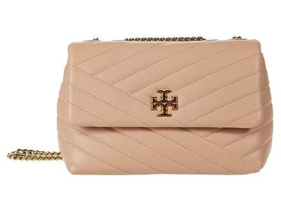 Tory Burch Kira Chevron Small Convertible Shoulder Bag (Devon Sand) Handbags