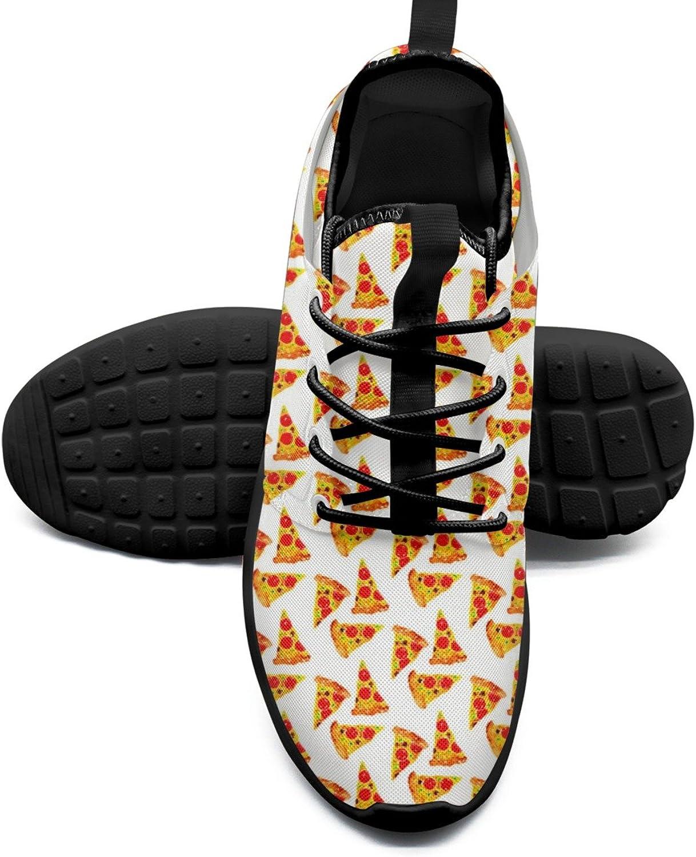 FAAERD Women's Fashion Lightweight Running Sneakers Watercolor Pizza Retro Walking shoes
