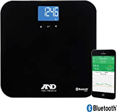 A&D Medical Bluetooth Wireless Bathroom Weight Scale for Multiple Users (UC-350BLE)