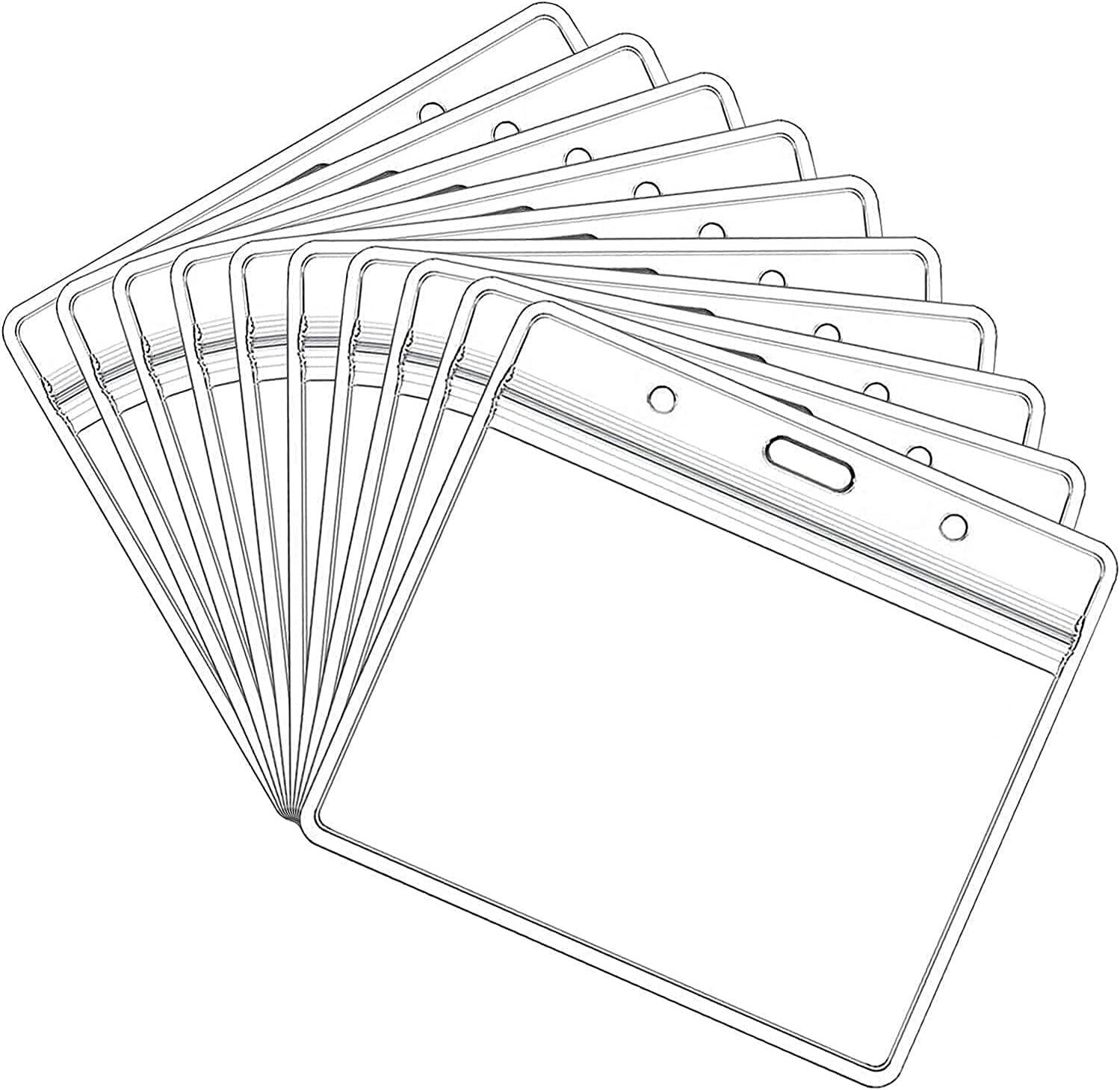 10 Pack Card Protectors 4X3in Horizontal Cl online shop Pouch ID Don't miss the campaign Holder