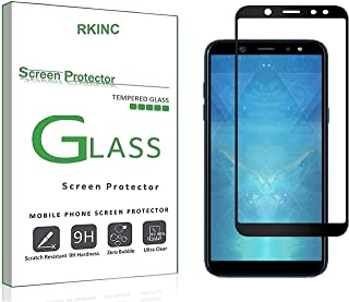 RKINC for Samsung A6 2018 Screen Protector, [1 Pack] Full Coverage Tempered Glass Clear Screen Protector [9H Hardness][3D ...