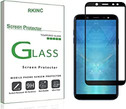 RKINC for Samsung A6 2018 Screen Protector, [1 Pack] Full Coverage Tempered Glass Clear Screen Protector [9H Hardness][3D Round Edge][0.33mm Thickness] for Samsung Galaxy A6 2018, Black