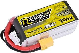 tattu Rline Lipo batería Pack 1550mAh 14.8V 95C 4S for FPV Racing Quadcopters Modelo de helicóptero Aviones y barcos , color/modelo surtido