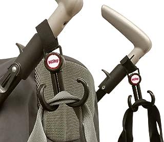 Nuby Deluxe Double Stroller Hooks, Black