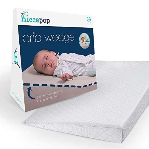 hiccapop Crib Wedge for Baby Mattress and Sleep