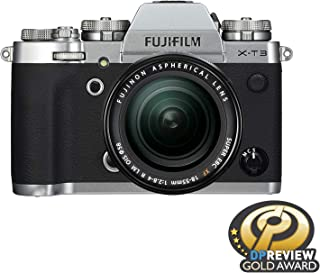 Fujifilm X-T3 Mirrorless Digital Camera with 18-55mm Lens Kit with 16 GB Memory Card and Bag (Silver)