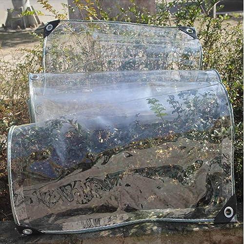 WSGZH Bache épaisse Transparente imperméable pour Tente d'extérieur Camion Toile cirée Transparente pour Plantes Grasses fenêtres, 500 g m2