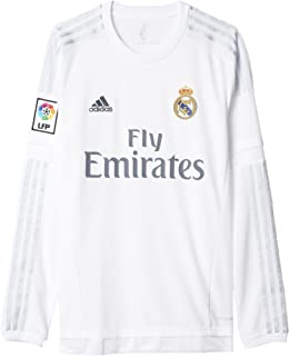 adidas Men's Soccer Real Madrid Home Jersey Long Sleeve