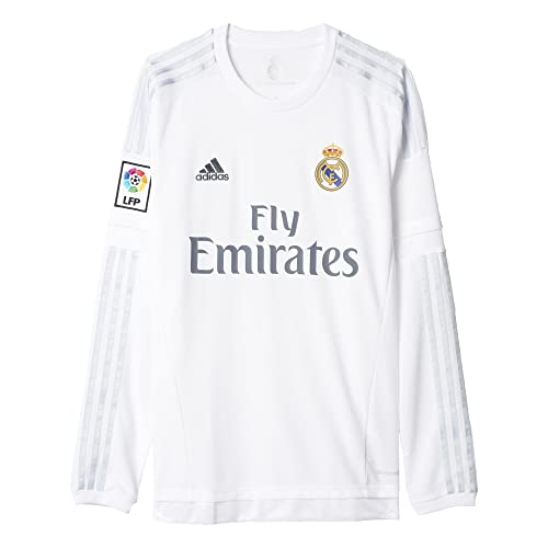 adidas Mens Soccer Real Madrid Home Jersey Long Sleeve