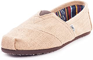 TOMS Men's Classics Burlap Slip-On, Easy On-Off Fit in Flexible and Durable Canvas Upper