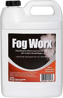 FogWorx Fog Juice – 1 Gallon of Organic Fog Fluid (128 oz) – Medium Density,..