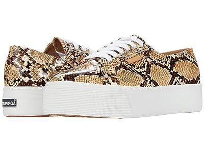 Superga 2790 Snakepufan Sneaker (Brown Snake) Women