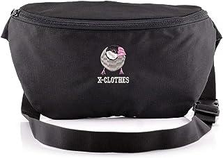 [X-CLOTHES] ウエストポーチ ボディバッグ ワンショルダー バッグ 斜め掛けバッグ ビッグ ワンポイント 刺繍 グッズ レディース メンズ フリーサイズ