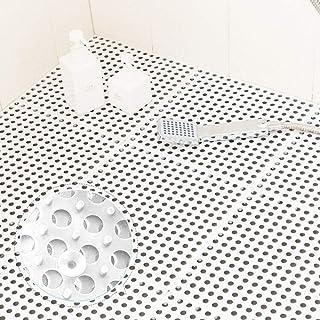 QD-SGMP お風呂マット 滑り止めマット 吸盤つき 浴槽マット すのこ プラスチック 洗い場マット 浴室用床シート 防カビ 介護用 赤ちゃん お年寄り 転倒防止 新型 6枚(ホワイト)