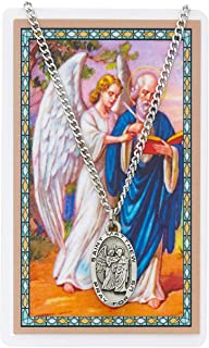 Saint Matthew 1-inch Pewter Medal Pendant with Holy Prayer Card