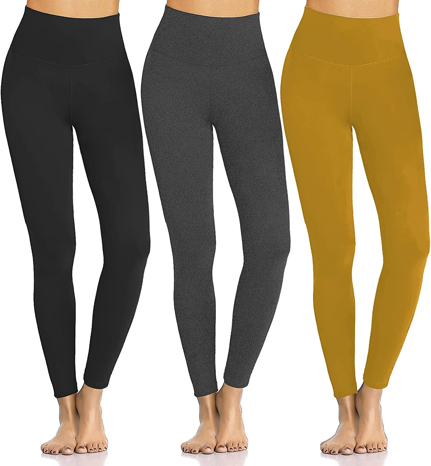 Women's Buttery Soft Leggings No See-Through quality assurance Tummy Waist Co Direct sale of manufacturer High