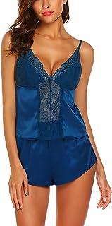 Avidlove Womens Sexy Pajamas Satin Sleepwear PJ Cami Shorts Set Sexy Nightwear