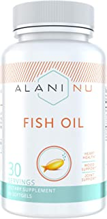 Alani Nu Omega 3 Fish Oil, 1500MG, 800mg EPA, 600mg DHA, 60 Softgels …