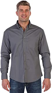 Gioberti Mens Long Sleeve Casual Twill Contrast Shirt